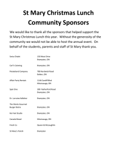 St Mary Christmas Lunch Community Sponsors