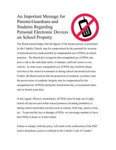 An Important Message for Parents/Guardians and Students Regarding Personal Electronic Devices