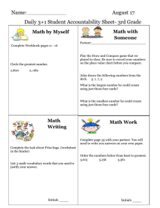 Name: August 17 Daily 3+1 Student Accountability Sheet- 3rd Grade