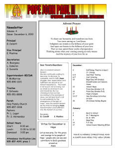 Newsletter Volume: 4 Issue:  December 6, 2010