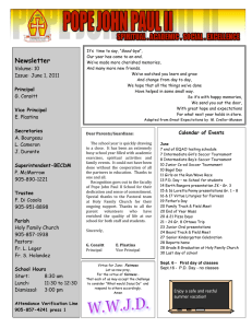 Newsletter Volume: 10 Issue:  June 1, 2011