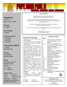Newsletter  Volume: 8 Issue:  April 8, 2014