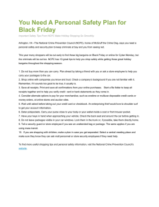 You Need A Personal Safety Plan for Black Friday