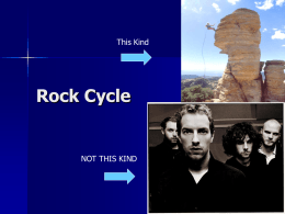 Rock Cycle This Kind NOT THIS KIND