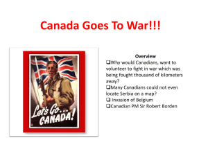 Canada Goes To War!!!