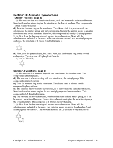 Section 1.3: Aromatic Hydrocarbons