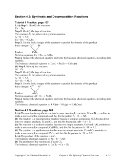 Counting Atoms & Balancing Equations Worksheet