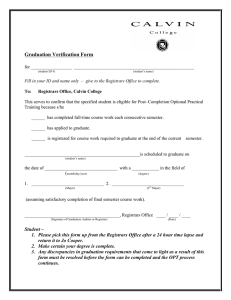 Graduation Verification Form