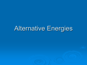 Alternative Energies