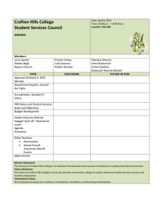 Crafton Hills College Student Services Council AGENDA