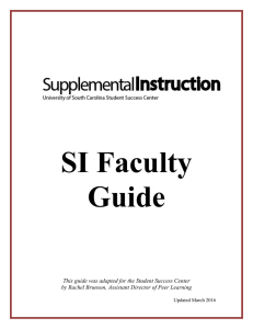 SI Faculty Guide