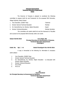 Haryana Government Technical Education Department Order