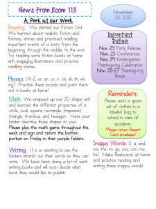 News from Room 113 A Peek at our Week Reading :