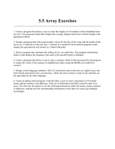 5.5 Array Exercises