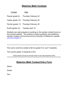 Waterloo Math Contests