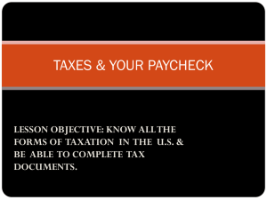 TAXES & YOUR PAYCHECK