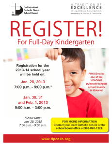 REGISTER! For Full-Day Kindergarten