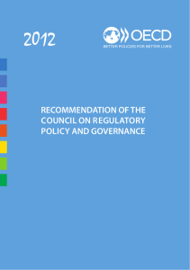 2012 RECOMMENDATION OF THE COUNCIL ON REGULATORY POLICY AND GOVERNANCE