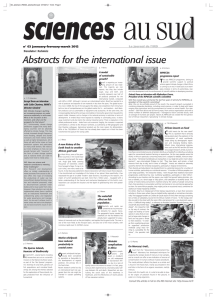 Abstracts for the international issue B Le journal de l'IRD
