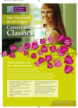 Classics Careers with Your Career with an Arts Degree