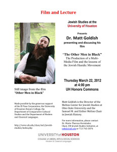 Film and Lecture Dr. Matt Goldish  Thursday March 22, 2012