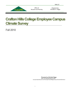 Crafton Hills College Employee Campus Climate Survey Fall 2010