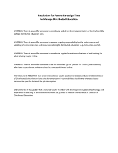 Resolution for Faculty Re‐assign Time  to Manage Distributed Education