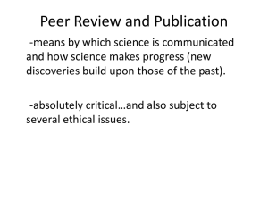Peer Review and Publication