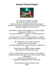 Advent Family Prayer