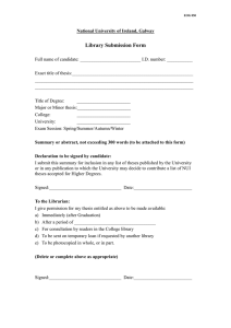 Library Submission Form