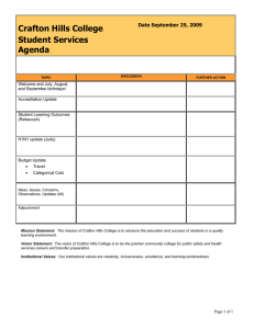 Crafton Hills College Student Services Agenda Date September 25, 2009