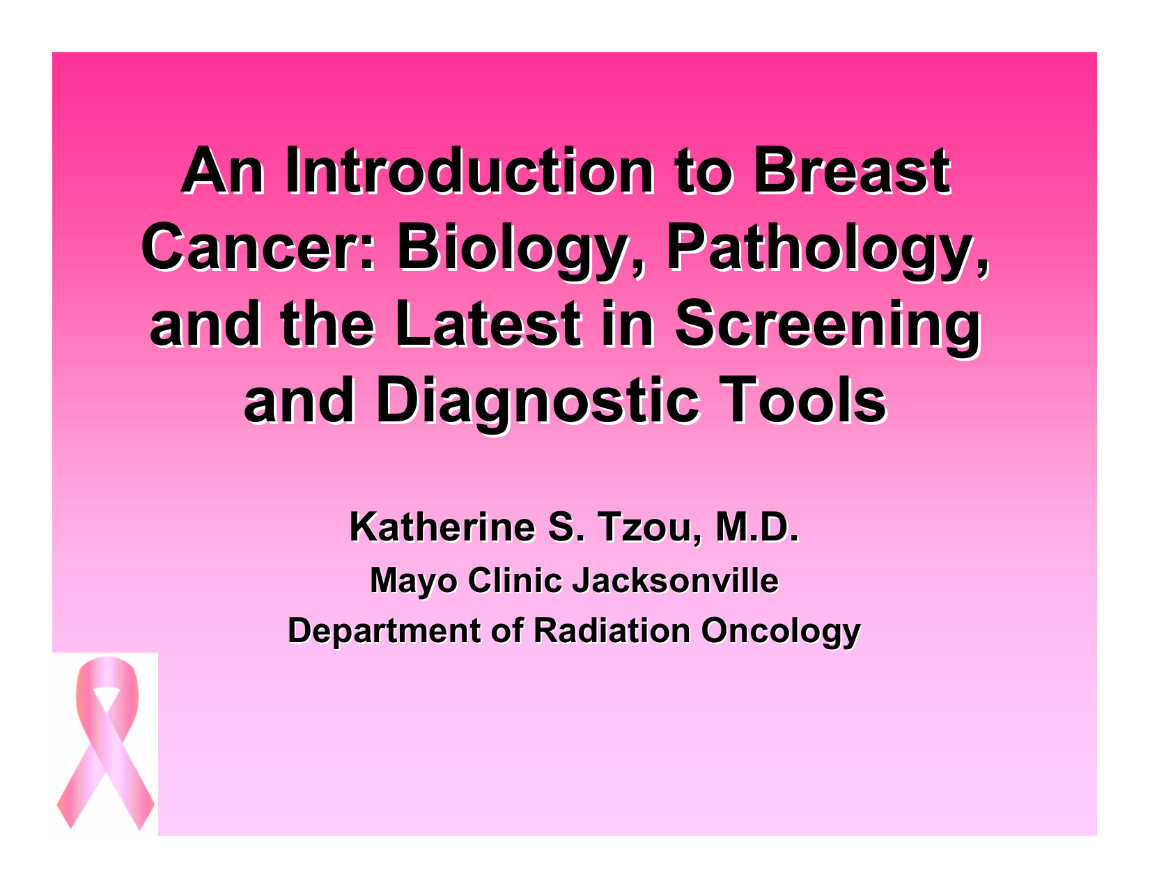 Breast Cancer Biology for the Radiation Oncologist