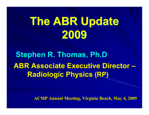 Expectations of Physics Knowledge for ABR Certification of