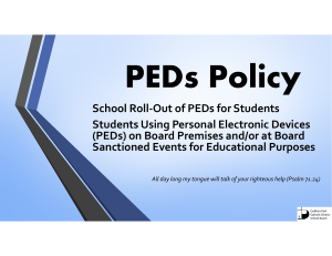 PEDs Policy