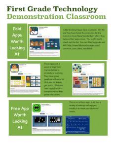 First Grade Technology Demonstration Classroom Paid Apps