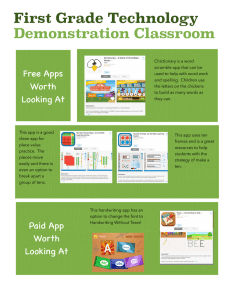 First Grade Technology Demonstration Classroom Free Apps Worth