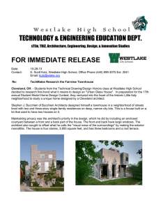 W e s t l a k e   ...  TECHNOLOGY & ENGINEERING EDUCATION DEPT. FOR IMMEDIATE RELEASE