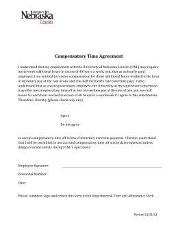 Compensatory Time Agreement