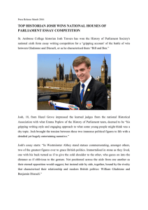 TOP HISTORIAN JOSH WINS NATIONAL HOUSES OF PARLIAMENT ESSAY COMPETITION