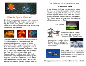 The Effects of Space Weather