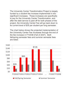The University Center Transformation Project is largely