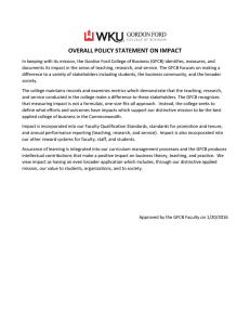 OVERALL POLICY STATEMENT ON IMPACT