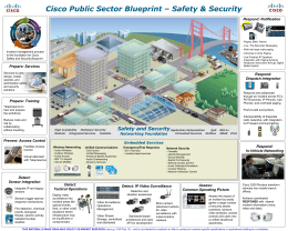 Cisco Public Sector Blueprint – Safety & Security Respond: Notification