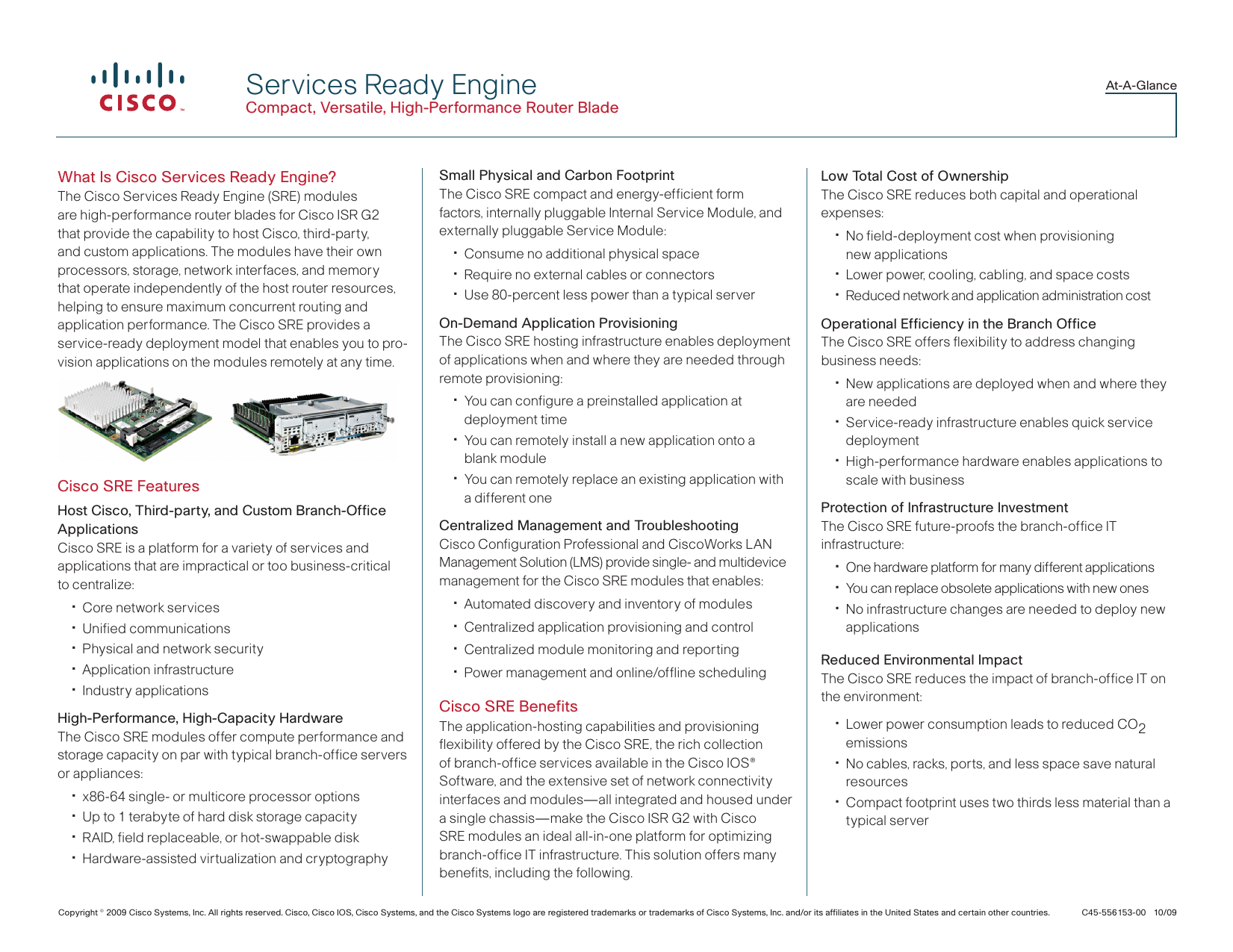 What Is Cisco Services Ready Engine?