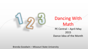Dancing With Math PE Central – April-May 2015