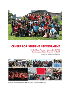 Center for Student Involvement/SFAC 2015/Base Augmentation Request/1