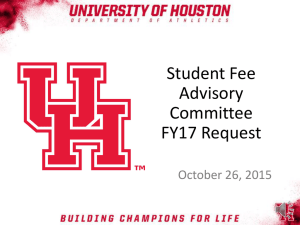 Student Fee Advisory Committee FY17 Request