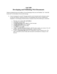 AnS 440 Developing and Publishing Web Documents