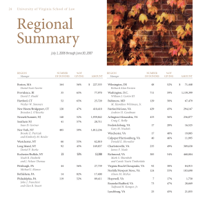 Regional Summary  July 1, 2006 through June 30, 2007