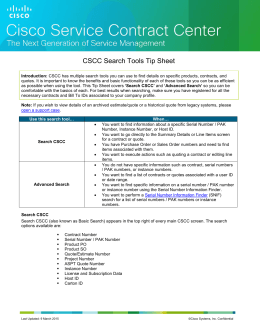 CSCC Search Tools Tip Sheet